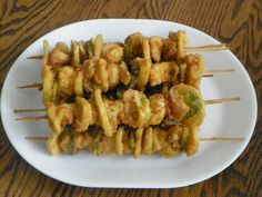 Chicken on a Stick...This looks like the chicken-on-a-stick we had in ...