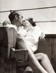 Gary Cooper with his wife Rocky, 1930s.