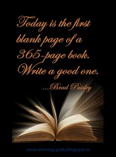 01 january happy new year or as we like to call it in our family thursday today is the first blank page of a 365 page book write a good one
