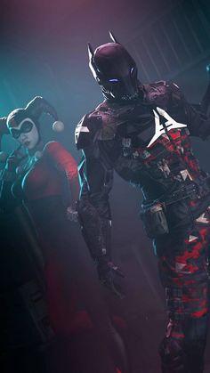 Harley Quinn and Arkham Knight Batman Arkham City, Batman Arkham Knight, Gotham City, Arte Dc Comics, Batman Wallpaper, Red Hood, Batman Comic Art, Batman Robin, Univers Dc
