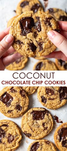 Gluten Free Drinks, Best Gluten Free Desserts, Gluten Free Recipes For Dinner, Healthy Dessert Recipes, Cookie Flavors, Easy Cookie Recipes, Waffle Recipes, Gluten Free Chocolate Chip Cookies, Gluten Free Cookies