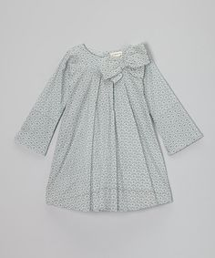 Take a look at this Ardleigh Bow Pleated Organic Dress - Infant, Toddler & Girls by Plum Bunny on #zulily today!