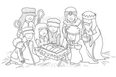 051 Digital Stamp - The Nativity
