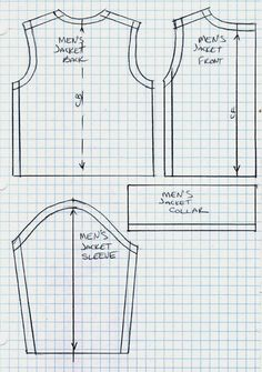 Mens leather jacket cutting pattern - Google Search