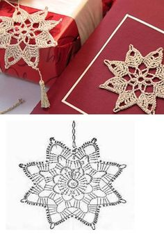Latest Totally Free knitting stitches diagram Popular Schneeflocken häkeln – Her Crochet appliques fairy Crochet Diagram, Crochet Motif, Crochet Designs, Crochet Doilies, Crochet Flowers, Crochet Patterns, Crochet Appliques, Crochet Snowflake Pattern, Crochet Stars