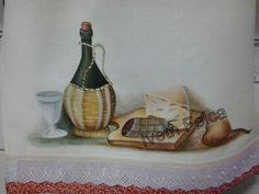 Pintura em tecido- Pano de Prato