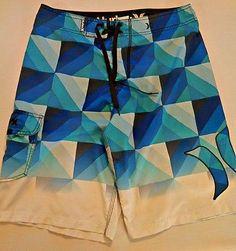 Hurley Mens Board Shorts Swim Trunks Size 31 32