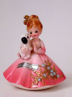 """OLDER JOSEF ORIGINALS PUPPY KISSING GIRL FIGURINE """"PUPPY LOVE FAVORITE SAYINGS"""" Vintage Decor, Vintage Items, Vintage Stuff, Vintage Girls, Retro Vintage, Calming Colors, China Dolls, China Girl, Puppy Love"""
