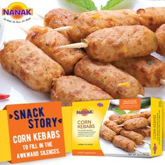 These conversation-starter corn kebabs will fill in awkward moments. #Yummy #Tasty #Delicious #Love #SnackStory #Yum #Delectable
