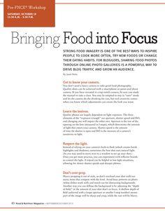 Bringing Food into Focus, @Food & Nutrition Magazine