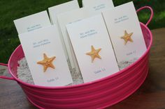Hey, I found this really awesome Etsy listing at http://www.etsy.com/listing/99922994/wedding-place-cards-with-starfish-shell