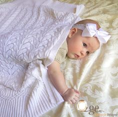 Cathedral Heirloom Baby Blanket - KNITTING - intermediate - great design.