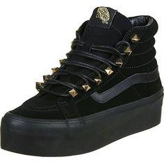 Vans - Womens Sk8-Hi Platform Shoes, Size: 6.5 B(M) US Womens, Color: (Stud Eyelets) Black