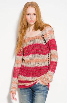 Free People 'Desert Moon' Slouchy Striped Sweater