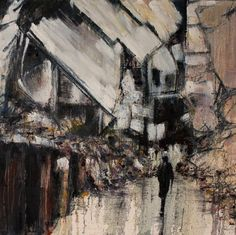 lesley oldaker artist contemporary painter photographer of expressive abstract urban figurative art Urban Landscape, Landscape Art, Artist Painting, Figure Painting, Alone Art, Thing 1, Wall Art For Sale, Contemporary Artists, Original Paintings