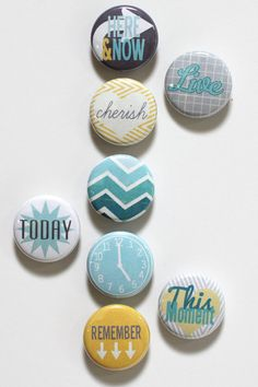 Moments Collection Button Badge Flair by ScarletBirdDesigns, $5.99