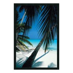 Palm View Hammock Poster Art Print: World travelers will love this beautiful color poster of a hammock on remote beach in a tropical paradise. This stunning beach scene is sure to please any lover of tropical scenes. Dream Vacations, Vacation Spots, Belle Image Nature, Hammock Frame, Hammock Beach, I Love The Beach, Tropical Beaches, Tropical Paradise, Beach Photos