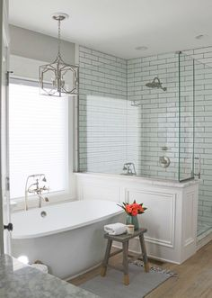 Image result for master bath farmhouse remodel