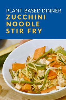 For a quick and easy plant-based dinner, try this zucchini noodle stir fry by Baylor Scott & White Health dietitian Stephanie Dean, RDN. Scott White, Zucchini Noodles, What You Eat, Dietitian, Eat Healthy, Stir Fry, Dean, Spinach, Plant Based