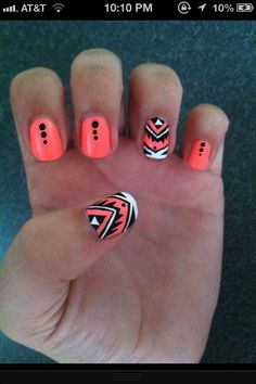 Tribal Nails! LOVE THIS.