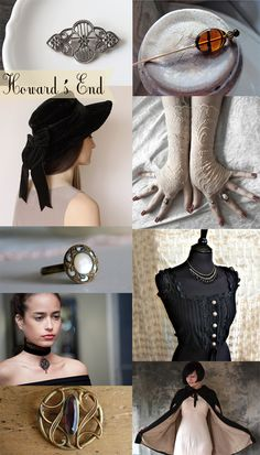 Edwardian accessories inspired by Howard's End