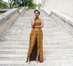 @nothingbutthewax: Beautiful!! Brand : @by_natachabaco  Model : @scheenadonia #jumpsuit #ankara