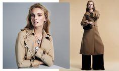 Ymre Stiekma Models Fall Outerwear in BAZAAR Spain by Zoltan Tombor - Fashion Gone Rogue