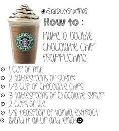 double chocolaty chip frappuccino recipe starbucks - Google Search #chocolaty #double #frappuccino #google #recipe #search #starbucks