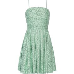 Boutique Moschino Gathered cotton-blend lace mini dress (2.832.190 IDR) ❤ liked on Polyvore featuring dresses, mint, mini dress, short dresses, shirred lace dress, mint green lace dress и fitted lace dress