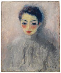 Kees van Dongen, Portrait of a Woman (Mme B.) - 1920 on ArtStack #kees-van-dongen #art