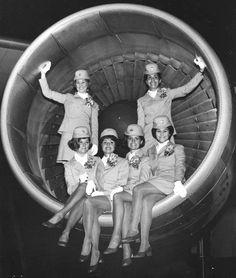 Pan Am airlines stewardess class in Miami, January 1967