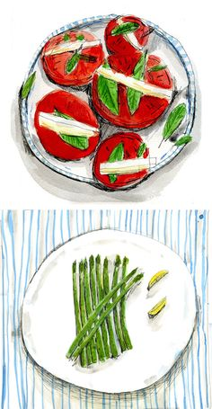 food illustrations by elizabeth graeber