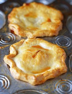 Easy as... mini peach pie!  Perfectly portioned and portable using muffin tins.  No slicing required!