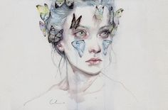 Powerful Watercolors by Agnes Cecile | http://www.123inspiration.com/powerful-watercolors-by-agnes-cecile/