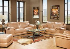 Shop for a Bella Lago Sand Leather 3 Pc Living Room at Rooms To Go. Find Leather Living Rooms that will look great in your home and complement the rest of your furniture.