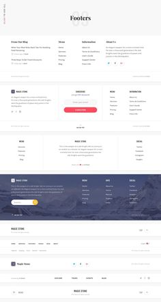 Introducing Magic Stone: The Ultimate UI Kit for Web Creatives carefully assembl. - Introducing Magic Stone: The Ultimate UI Kit for Web Creatives carefully assembled in Sketch and Ph - Wireframe Design, Navigation Design, Footer Design, Interface Design, Footer Web, Website Footer, Website Design Layout, Web Layout, Layout Design