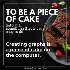 English Idioms, Piece Of Cakes, Something To Do, Easy, Desserts, Food, Tailgate Desserts, Deserts, Essen