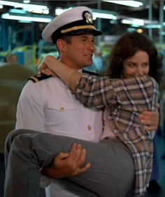 An Officer and a Gentleman <3 that he goes in there and just throws her into his arms and takes off with her!