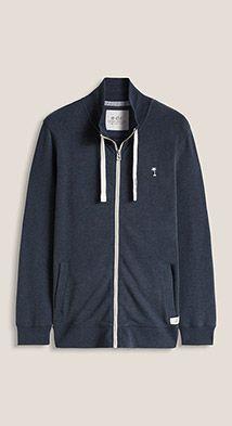 Esprit / Zip-up sweatshirt + stand-up collar