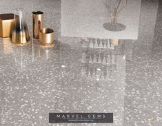 Marvel Gems Terrazzo porcelain tiles inspired by Venetian Terrazzo for modern architecture. Wall And Floor Tiles, Wall Tiles, Marvel Gems, Polished Porcelain Tiles, Terrazzo Tile, Mid Century Modern Kitchen, Concorde, Luxury Interior Design, Modern Luxury