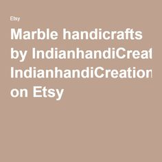 Marble handicrafts by IndianhandiCreations on Etsy
