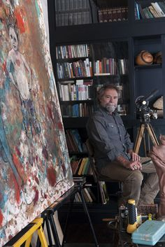 """Photo Credit: Robert Rausch. Audwin McGee in his painting studio in Florence, Alabama  Garden and Gun """"best small towns in the south"""""""