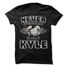 Never Underestimate The Power Of ... KYLE - 999 Cool Name Shirt ! - #mens hoodies #hooded sweater. CHECK PRICE => https://www.sunfrog.com/LifeStyle/Never-Underestimate-The-Power-Of-KYLE--999-Cool-Name-Shirt-.html?60505