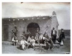 Grupo de gauchos [c. 1860-1863] by Benito Panunzi [Colección Witcomb, Archivo General de la Nación]
