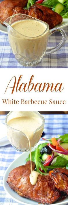 White Barbecue Sauce - an Alabama favorite! More of a condim.- White Barbecue Sauce – an Alabama favorite! More of a condiment than a BBQ sauce this tangy, creamy sauce compliments both smoked and grilled chicken & pork. White Bbq Sauce, Barbecue Sauce, Bbq Sauces, Dipping Sauces, Barbecue Chicken, Chicken Dips, Keto Bbq Sauce, Sriracha Sauce, Grilled Chicken Sides