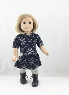 American Girl Doll Clothes Scandinavian Snowflake by dressurdolly2