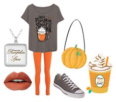 """PSL-pumpkin spice latte"" by maksam721 ❤ liked on Polyvore featuring Alice + Olivia, LC Trendz and Converse"