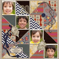 digital scrapbooking layout created by mikinenn featuring the April 2014 FREE Template by sahlin studio