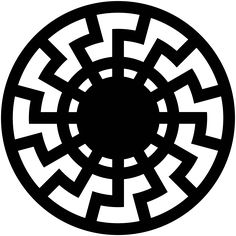 "[Sun with 12 angled rays or double-X over the Four Pillars of God? Is ""black sun"" (symbol of mythical Satan for dark magicians) just an X or double-X or triple-X or quadruple-X over the Four Pillars of God?.. with rays being straight or angled?] Symbol representing the Black Sun (occult symbol) - Wikipedia"