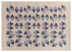 Esagoni Rug Gio Ponti Carpet Collection Handknotted in Nepal by AMINI Tibetan Wool and natural Silk 250x300cm